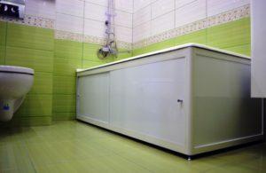 Установить экран под ванную