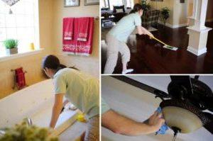 Уборка дома от клининговой компании